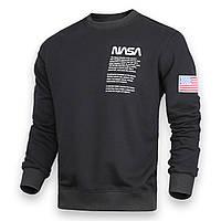 Свитшот мужской черный NASA №4 патч BLK XL(Р) 20-524-001