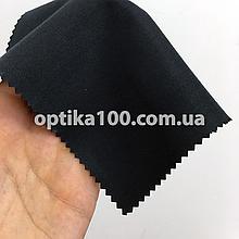 Чорна серветка мікрофібра для оптики, окулярів, телефонів, екранів