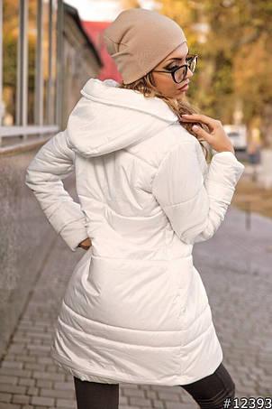 Приталенная удлиненная куртка с капюшоном, фото 2