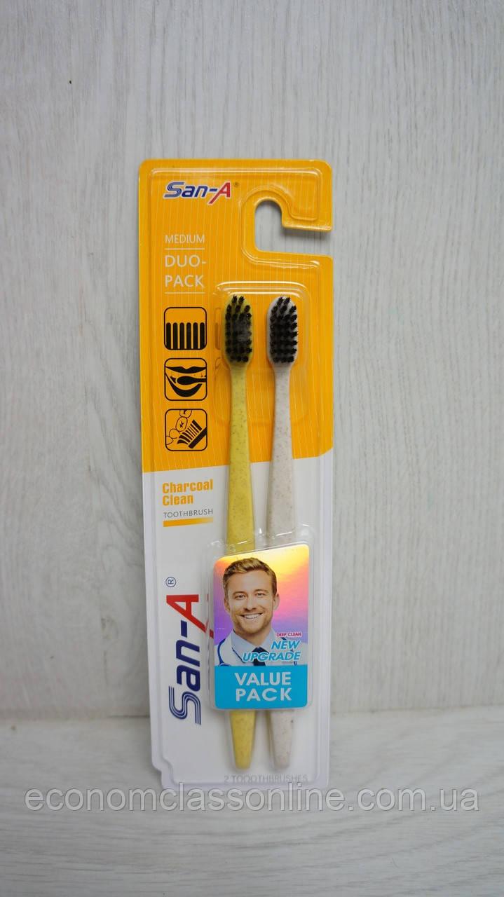 Набор зубных щеток 2 шт(средняя)