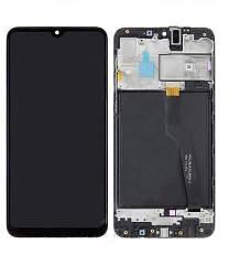 Дисплей для Samsung A105F Galaxy A10 2019 Dual Sim с тачскрином и рамкой черный Оригинал