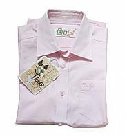 Детская рубашка розовая TM Bogi с коротким рукавом для мальчика 128-134 см