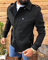 Мужское пальто черного цвета размеры M, L, XL