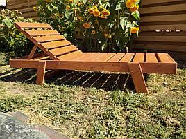 Шезлонг деревянный лежак модель Касабланка