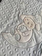 Детский двойной плед   Плюшевый плед   COLORFUL HOME   Дитяче літнє одіяло  Розмір  95х80 см.