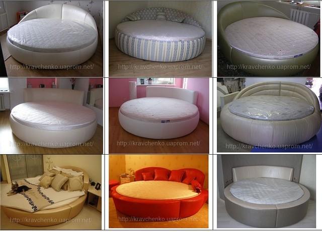 Круглая кровать. Изготовление круглых кроватей. Круглые кровати в Киеве.