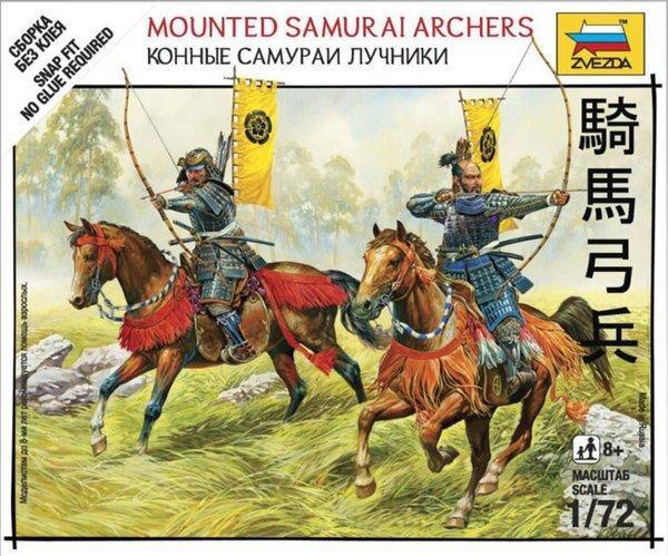 Конные самураи лучники. 1/72 ZVEZDA 6416