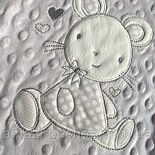 Детский двойной плед   Плюшевый плед   COLORFUL HOME   Дитяче літнє одіяло  Розмір  95х80 см. Мышка