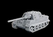 Немецкий тяжелый истребитель танков JAGDTIGER SD.KFZ.186. Сборка без клея в масштабе 1/100. ЗВЕЗДА 6206, фото 3