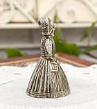 Старий колекційний дзвіночок, посріблений метал, Англія, витаж, фото 3