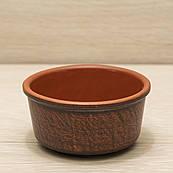 Соусница из красной глины 0,15л, в/п глазурь