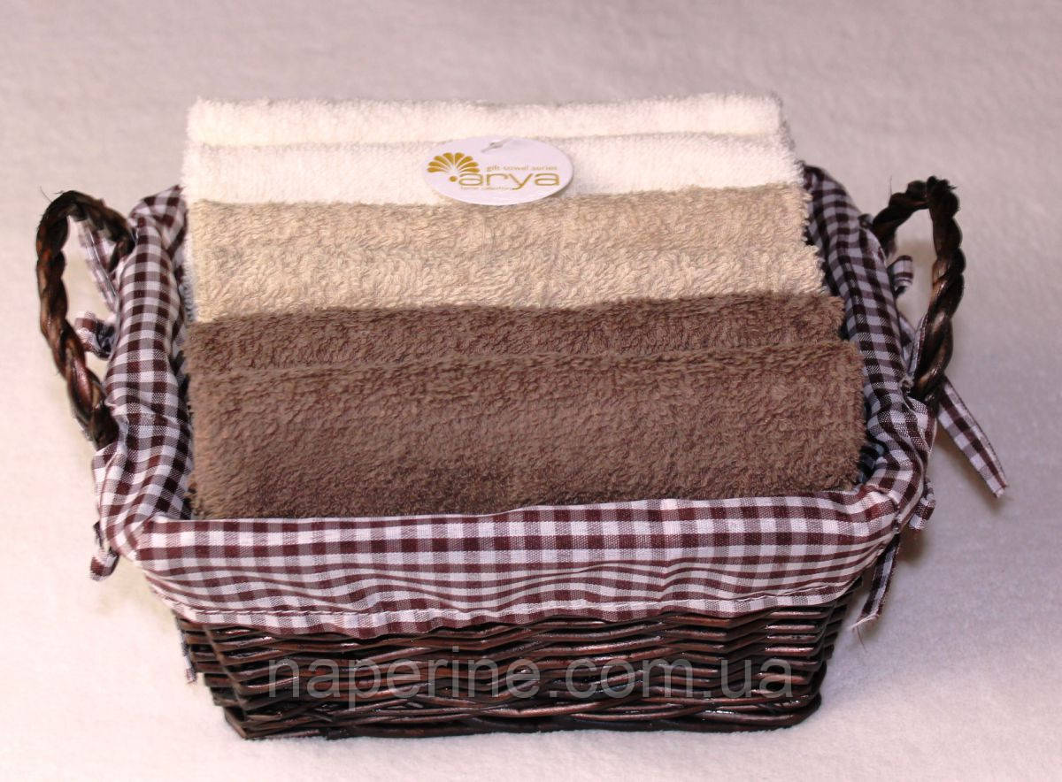 Arya Ambiente набор полотенец в корзиночке