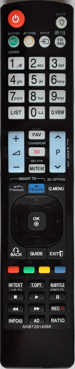 Пульт с телевизора LG. Модель AKB72914066
