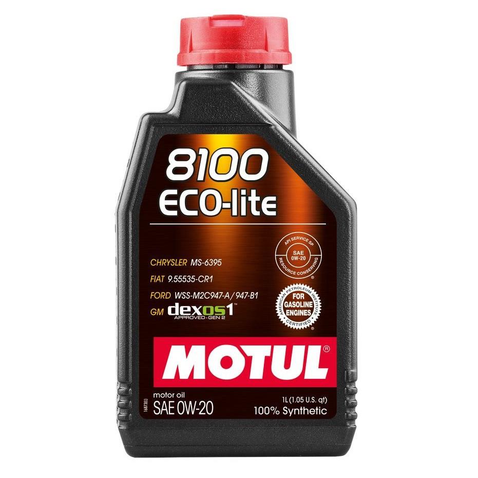 Масло моторное 100% синтетическое д/авто MOTUL 8100 Eco-lite SAE 0W20 1л. 108534/841111