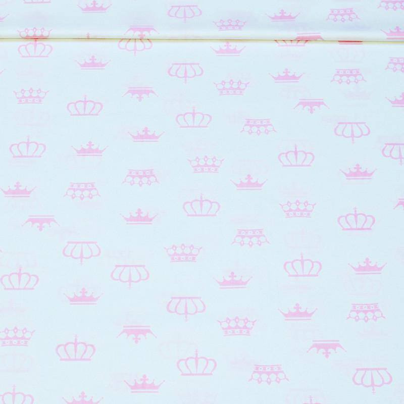 Поплин Короны нежно-розовые