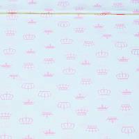 Поплин Короны нежно-розовые, фото 1