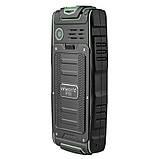 Кнопочный телефон зеленый защищенный, водонепроницаемый с большим дисплеем на 3 sim Vkworld Stone V3 green, фото 2