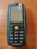 Кнопочный телефон зеленый защищенный, водонепроницаемый с большим дисплеем на 3 sim Vkworld Stone V3 green, фото 6