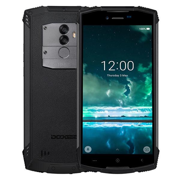 Смартфон воднонепроницаемый, ударопрочный, влагостойкий со сканером отпечатка пальца Doogee S55 black  4/64GB