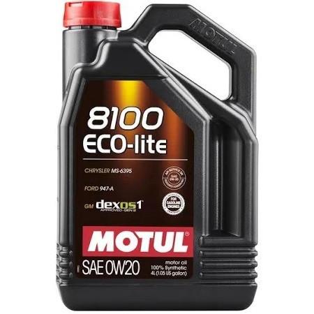 Масло моторне 100% синтетичне д/авто MOTUL 8100 Eco-lite SAE 0W20 4л. 108535/841154