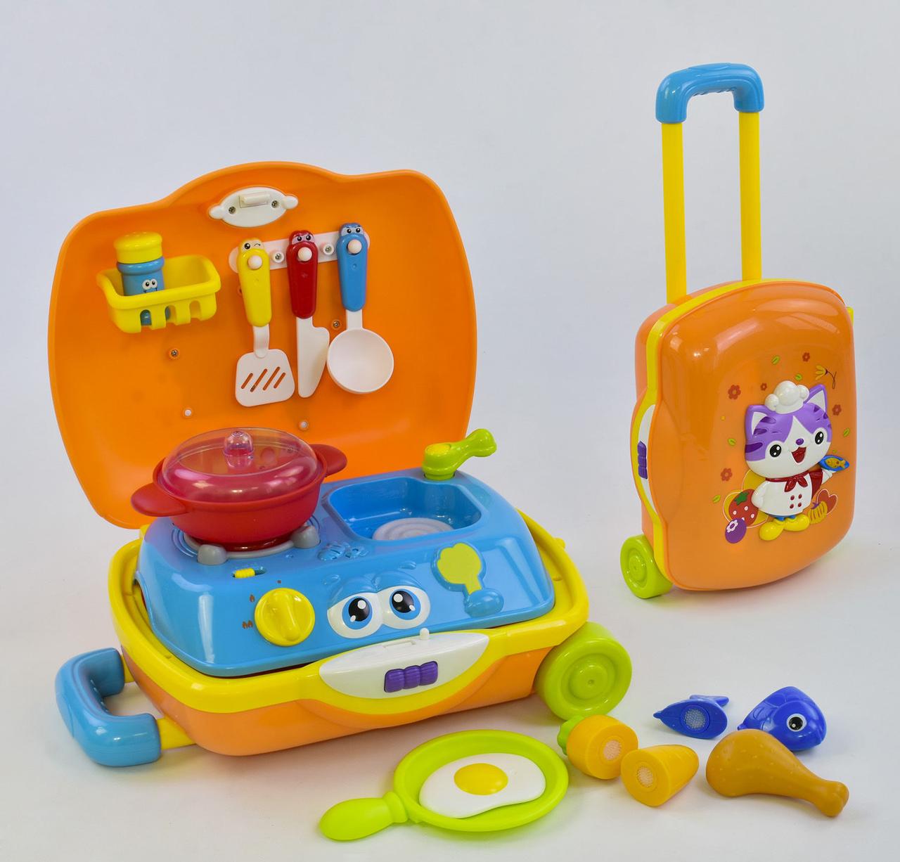 Игровой набор Кухня в чемодане 3108, звук, подсветка