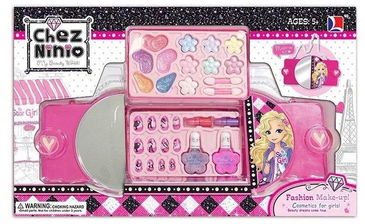 Набор детской косметики в сумочке 77007 тени, помада, набор для маникюра, кисточки