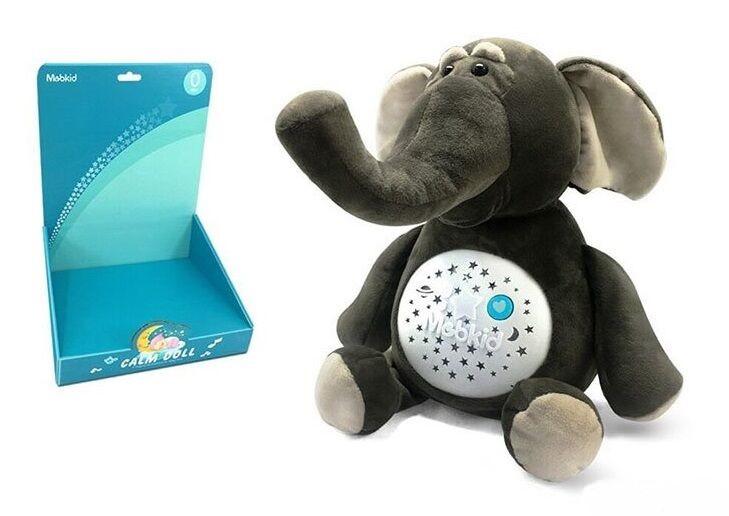 Детский ночник мягкий Слоник MBQ 661-8 с проектором