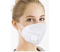 Защитная маска KN95 респиратор с угольным фильтром белая FFP2 / Оригинал
