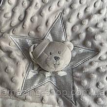 Детский двойной плед   Плюшевый плед   COLORFUL HOME   Дитяче літнє одіяло  Розмір  95х80 см. Мишка