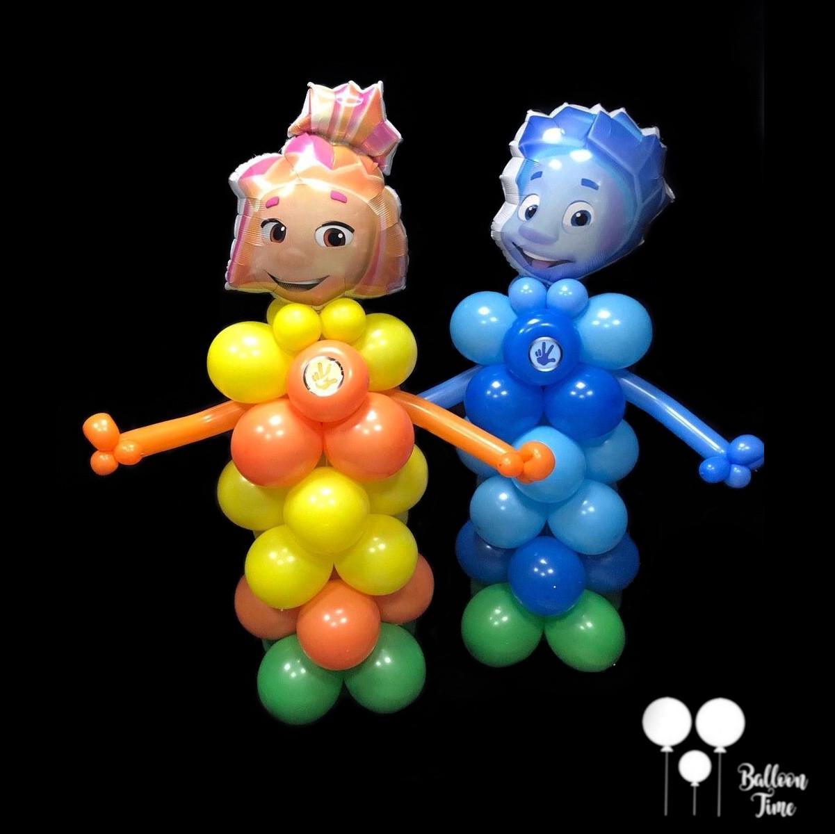 Фиксики из воздушных шаров