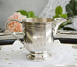 Посеребренный соусник, молочник, сливочник, серебрение, мельхиор, Англия, винтаж, фото 3