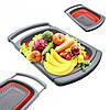 Корзина в раковину для мытья фруктов и овощей Leach basket . Складной дуршлаг. Силиконовый сито дуршлаг.
