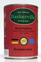 Вологий корм для собак Baskerville (Баскервіль) консерва яловичина 400 г