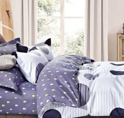 Комплект постельного белья Евро 200Х220 Сатин TL171097 Love You, фото 2