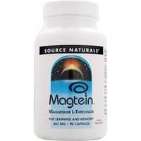Source Naturals, Магтеин, магния L-треонат, 667 мг, 90 капсул