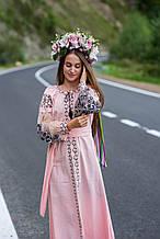 Рожево-солодкий колір льону та сіро-білі крила жар-птиці, шикарне плаття для сучасних «Пудрова жар-птиця»