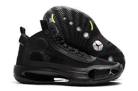 Мужские баскетбольные кроссовки Nike Air Jordan XXXIV (34) черные, фото 2