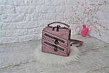 Сумка-рюкзак Молния Компакт городская сиреневая женская, фото 4