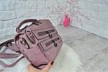 Сумка-рюкзак Молния Компакт городская сиреневая женская, фото 7