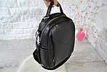 Рюкзак Atlas с двумя ремешками черный молодежный, фото 4