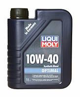 Моторное масло LIQUI MOLY Optimal SAE 10W-40 4л полусинтетика для дизельных и бензиновых автомобилеY