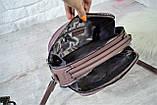 Сумка Weiliya Black на две молнии с длинным ремешком сиреневая женская, фото 8