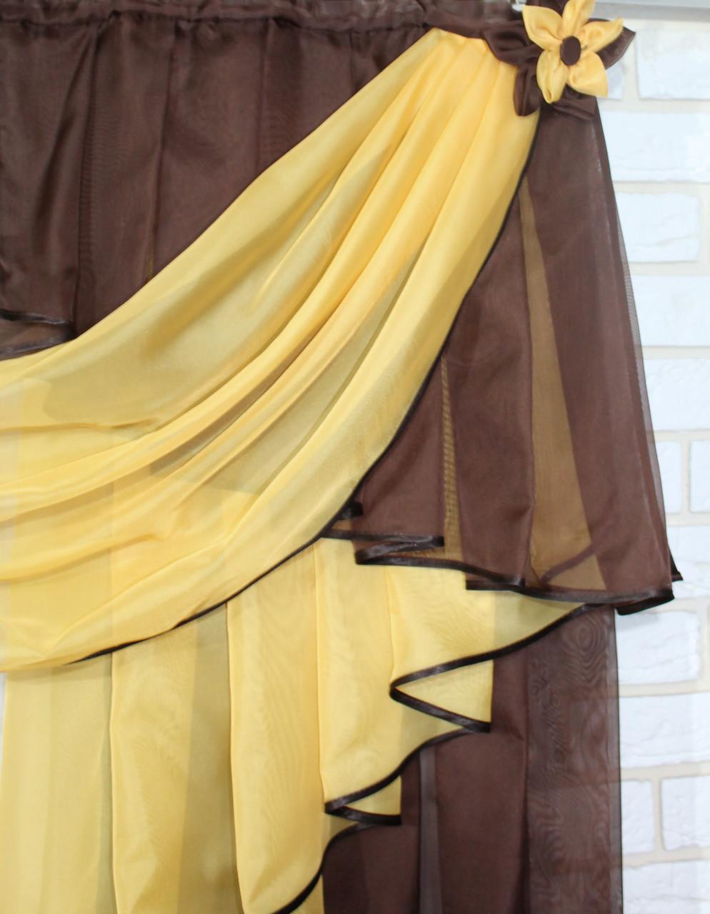 Ламбрекен 3м Цвет: янтар с венге №8, фото 2