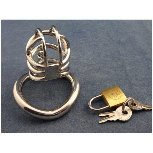 Золотистый пояс верности для мужчин с дугообразным кольцом ZC062