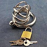 Золотистый пояс верности для мужчин с дугообразным кольцом ZC062, фото 2