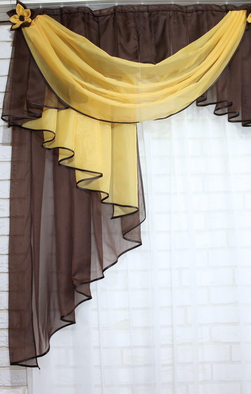 Ламбрекен 3м Цвет: янтар с венге №8, фото 4
