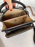 Женская сумка кросс-боди Fantasy на две молнии черная СФ570, фото 8