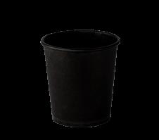 Стакан одноразовый бумажный 110 мл. Чёрный