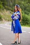 Вишите плаття синього кольору білими нитками -завжди вигідна ідея! «Крижане серце», фото 2