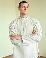Льон сорочка під вишивку з довгим рукавом , чоловіча